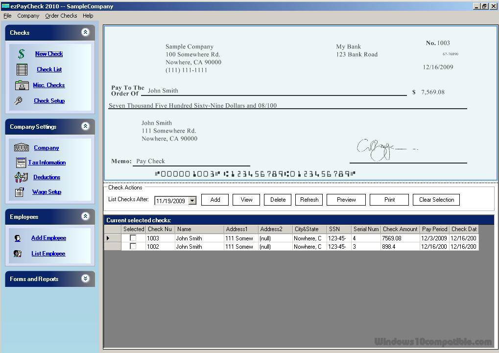 Ezpaycheck Payroll Software 3 4 10 1 Free Download